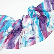 Аксессуары handmade. Livemaster - original item Snowstorm stole batik 100% silk. Handmade.