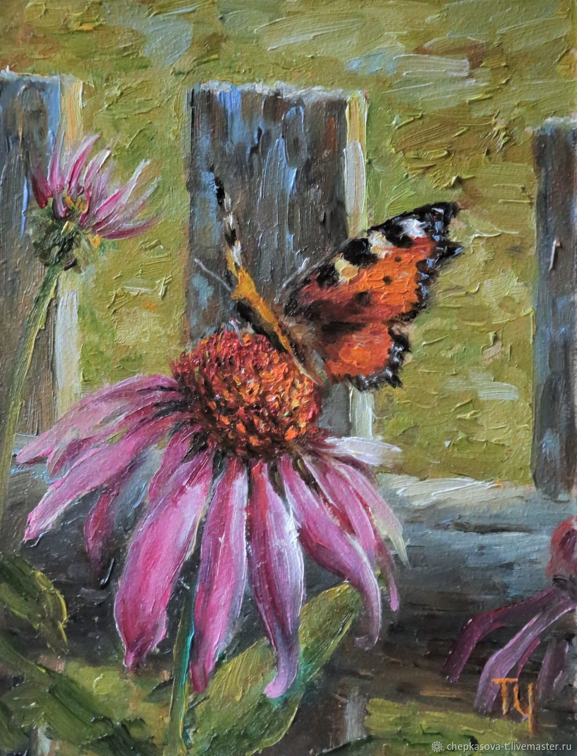 The Miniature 'Butterfly'. Oil painting, Pictures, Moscow,  Фото №1