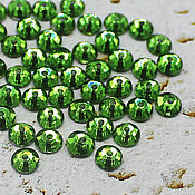 Материалы для творчества handmade. Livemaster - original item Crystals: Rhinestones-sequins birch forest 5h5 mm sewn 10 PCs. Handmade.