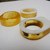 Украшения handmade. Livemaster - original item Amber ring size 18 P-58. Handmade.