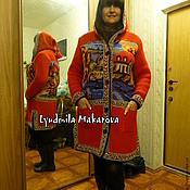 Одежда handmade. Livemaster - original item Coat with embroidery