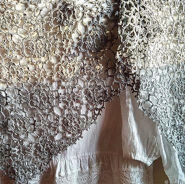 Аксессуары ручной работы. Ярмарка Мастеров - ручная работа Шаль Silver цвет античное серебро, 100% шёлк. Handmade.