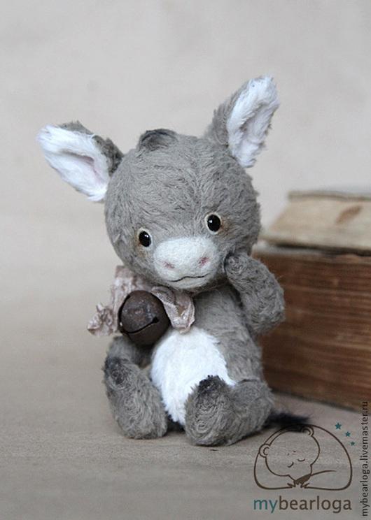 Мишки Тедди ручной работы. Ярмарка Мастеров - ручная работа. Купить Ослик Лу. Handmade. Серый, шарик, Иа, синтепух