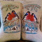 """Обувь ручной работы. Ярмарка Мастеров - ручная работа Валенки """"Снегири"""". Handmade."""
