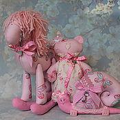 """Для дома и интерьера ручной работы. Ярмарка Мастеров - ручная работа Комплект для детской """"Розовые сны"""". Handmade."""