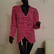 Одежда handmade. Livemaster - original item Jacket crochet Cranberries. Handmade.
