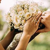 Украшения handmade. Livemaster - original item Wedding rings with yellow and white gold lettering. Handmade.
