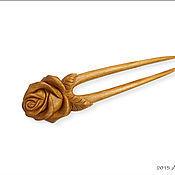 Сувениры и подарки ручной работы. Ярмарка Мастеров - ручная работа Заколка для волос_Cherry Rose. Handmade.