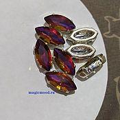 handmade. Livemaster - original item 1 piece Czech rhinestone 15h7mm Volcano Navette Czech crystals in DACs. Handmade.