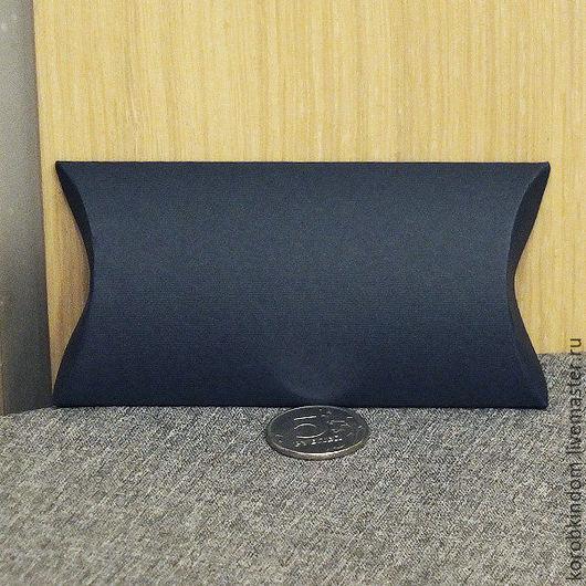 Упаковка ручной работы. Ярмарка Мастеров - ручная работа. Купить Бонбоньерка 12х6,5 см темно-синяя. Handmade. Коробочка
