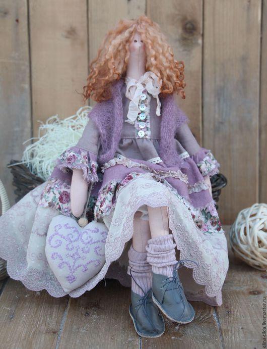 Куклы Тильды ручной работы. Ярмарка Мастеров - ручная работа. Купить Тильда Бетти шебби-шик. Handmade. Сиреневый, подарок