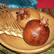"""Фен-шуй и эзотерика ручной работы. Ярмарка Мастеров - ручная работа """"Два граната"""" из дерева. Handmade."""