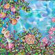 Шарфы и шарфики ручной работы. Заказать Ах, лето. Татьяна Ли (Gi-Gi). Ярмарка Мастеров. Голубой, листья