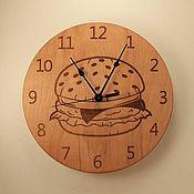 Часы классические ручной работы. Ярмарка Мастеров - ручная работа Часы гамбургер. Handmade.