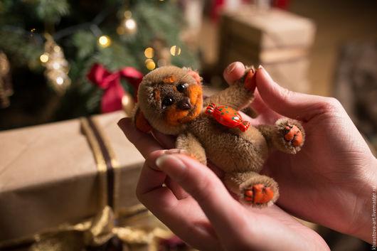 Мишки Тедди ручной работы. Ярмарка Мастеров - ручная работа. Купить Конфетка. Handmade. Оранжевый, шплинтовое крепление, конфетка