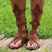 Обувь ручной работы handmade. Livemaster - original item gladiators of rome unisex genuine suede and leather. Handmade.