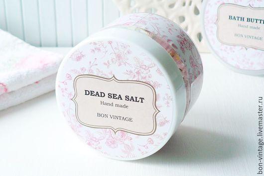 Соль для ванны ручной работы. Ярмарка Мастеров - ручная работа. Купить Соль Мертвого моря с афродизиаками. Handmade. Бледно-розовый