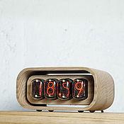 Часы классические ручной работы. Ярмарка Мастеров - ручная работа Часы на газоразрядных индикаторах ИН 12Б. Handmade.