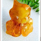 """Украшения ручной работы. Ярмарка Мастеров - ручная работа Кольцо """"Апельсиновый джем""""  янтарь посеребрение. Handmade."""