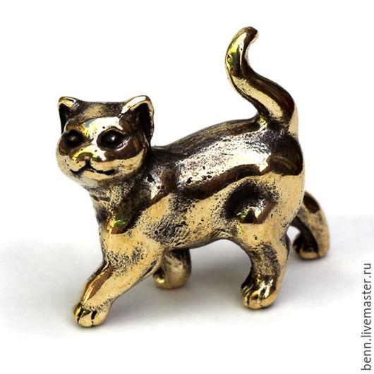 """Статуэтки ручной работы. Ярмарка Мастеров - ручная работа. Купить Миниатюрная фигурка """"Котёнок"""" (2). Handmade. Бронзовая статуэтка"""