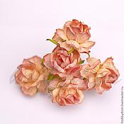 Материалы для творчества ручной работы. Ярмарка Мастеров - ручная работа роза цветок 4.0-4.5 см. Handmade.