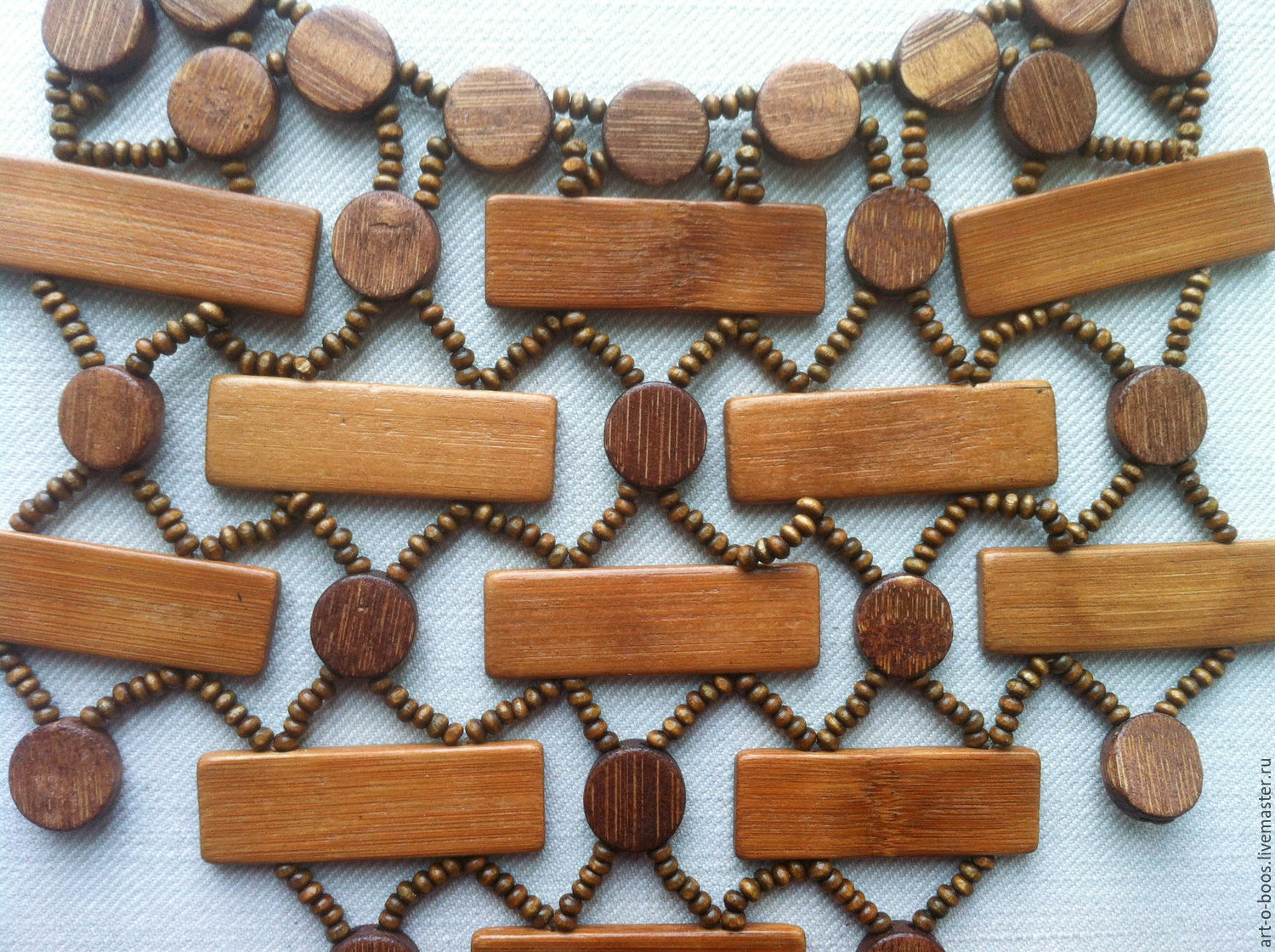 The beads 'are Not the enemy gave himself forged the' wood, Necklace, Moscow,  Фото №1