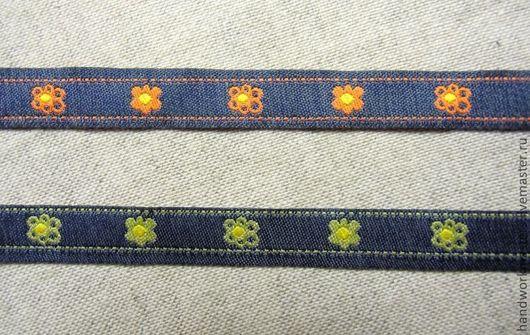 Жаккардовая тесьма испанского производства. Хороша для отделки и украшения одежды (особенно джинсовой одежды) и игрушек.