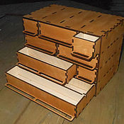Для дома и интерьера handmade. Livemaster - original item Drawer box for details 4 floors. Handmade.