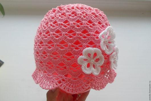 Шапки и шарфы ручной работы. Ярмарка Мастеров - ручная работа. Купить шапочка летняя розовая. Handmade. Розовый, шапочка для девочки