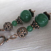 Украшения handmade. Livemaster - original item Earrings jade.Natural jade. Handmade.