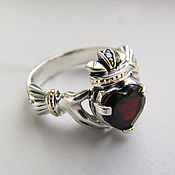 Украшения handmade. Livemaster - original item Silver ring with garnet