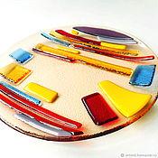 handmade. Livemaster - original item A plate of glass of the avant-garde. Fusing. Handmade.