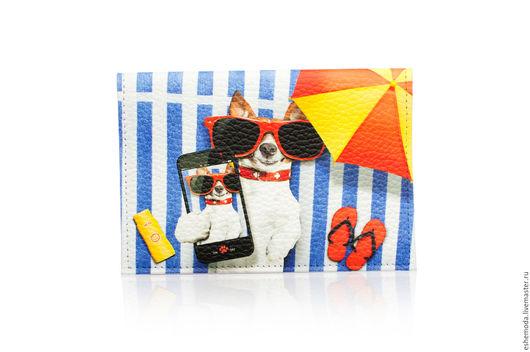 """Обложки ручной работы. Ярмарка Мастеров - ручная работа. Купить Обложка на паспорт """"Фото на пляже"""". Handmade. Комбинированный, фотография, отпуск"""