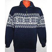 Одежда handmade. Livemaster - original item The Nordic style sweater with zipper. Handmade.