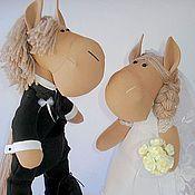 Куклы и игрушки ручной работы. Ярмарка Мастеров - ручная работа Свадебные лошадки.. Handmade.