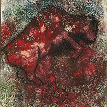 Картины и панно ручной работы. Ярмарка Мастеров - ручная работа Картина графика монотипия бой быка. Handmade.