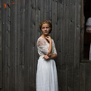 """Одежда ручной работы. Ярмарка Мастеров - ручная работа Белое кружевное платье в винтажном стиле """"Ольга"""". Handmade."""