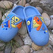 """Обувь ручной работы. Ярмарка Мастеров - ручная работа Валяные тапочки """" Мои фантазии"""". Handmade."""
