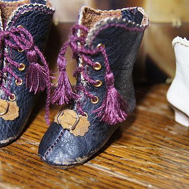 """Куклы и игрушки ручной работы. Ярмарка Мастеров - ручная работа Обувь для Антикварной и современной куклы """"Brush mini"""". Handmade."""
