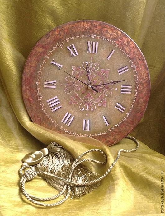 """Часы для дома ручной работы. Ярмарка Мастеров - ручная работа. Купить Большие настенные часы """"Этьен"""". Handmade. Разноцветный"""