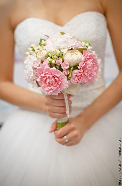 Букет для невесты, свадебный букет, букет из полимерной глины, .идеальный букет невесты, букет для невесты, букет от цветочного кутюрье Анны Горбуновой