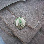 Украшения handmade. Livemaster - original item The sprig of fern from the autumn forest... Brooch.. Handmade.