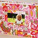 Фотоальбомы ручной работы. Ярмарка Мастеров - ручная работа. Купить Альбом для девочки на первый годик.. Handmade. Розовый, скрапбукинг фотоальбом