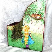 Канцелярские товары handmade. Livemaster - original item Journalize Alice in Wonderland. Handmade.