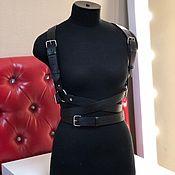 Аксессуары handmade. Livemaster - original item Copy of Leather Harness. Handmade.