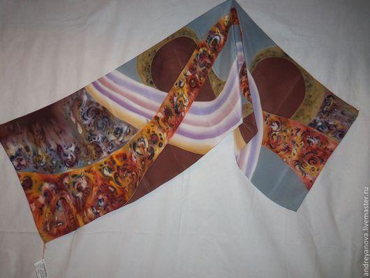 Шарфы и шарфики ручной работы. Ярмарка Мастеров - ручная работа. Купить Батик шарф Виражи. Handmade. Батик шарф