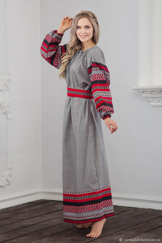 Traditional linen dress Chaldony, Folk dresses, Omsk,  Фото №1