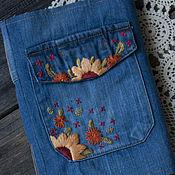 Фотоальбомы ручной работы. Ярмарка Мастеров - ручная работа Софтбук ручной работы с вышивкой, состаренные странички. Handmade.