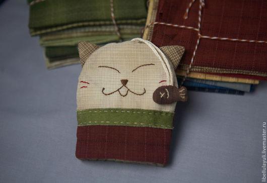 """Ключницы ручной работы. Ярмарка Мастеров - ручная работа. Купить Ключница """"Котик"""" техника японский пэчворк. Handmade. Пэчворк"""