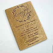 handmade. Livemaster - original item Wooden invitation. Handmade.